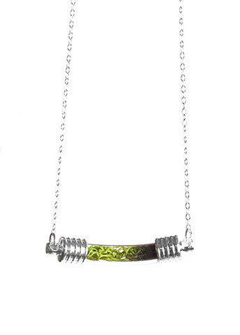 Terrarium Curve Necklace Silver