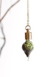 Terrarium Teardrop Necklace Gold
