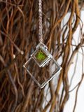 Double Diamond Glass Pendant