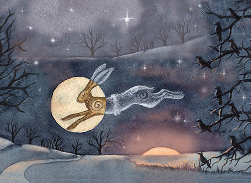 Luna Moon Hare - Winter Solstice