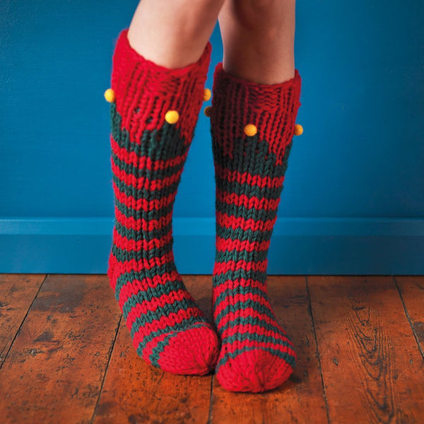 Christmas Elf Socks - Free Size