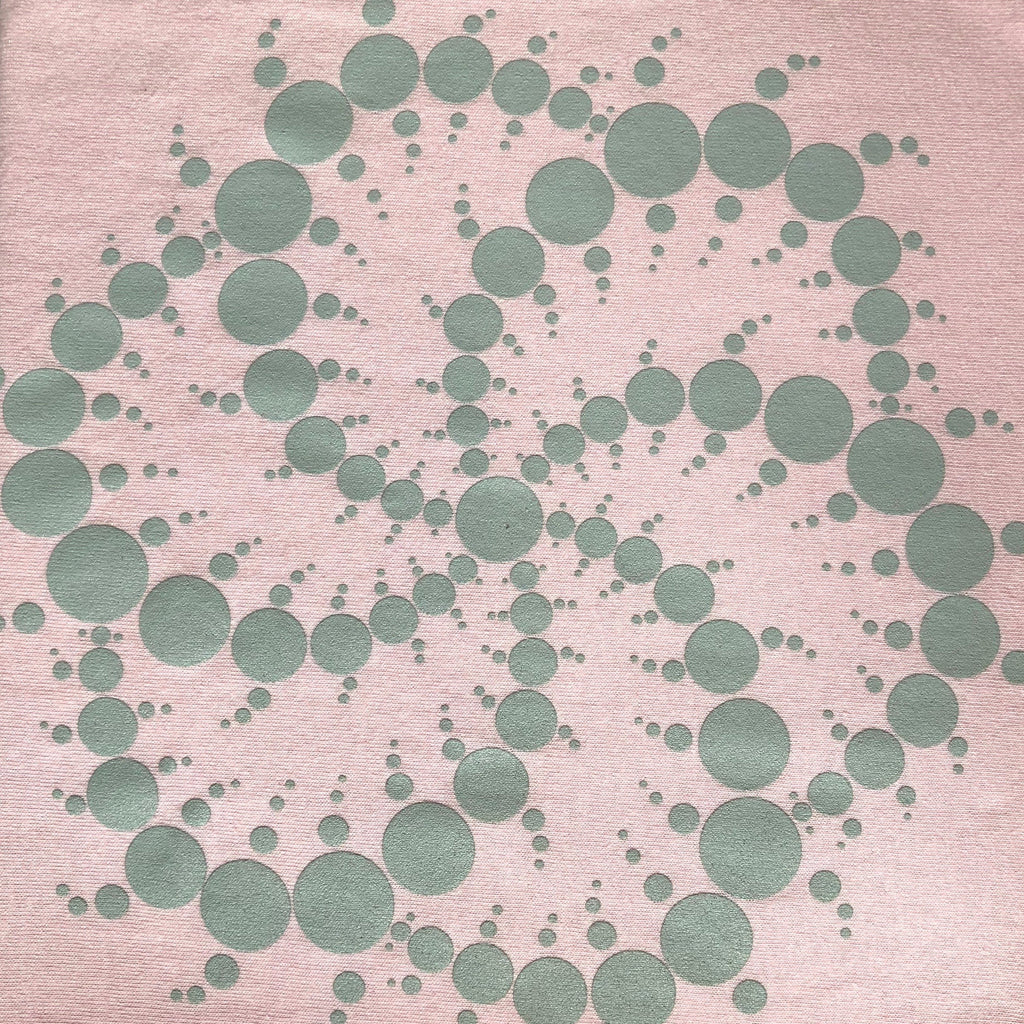 Ladies Fit Pink Crop Circle  T-Shirt