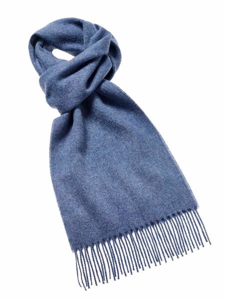 Merino Lambswool Airforce Blue Scarf