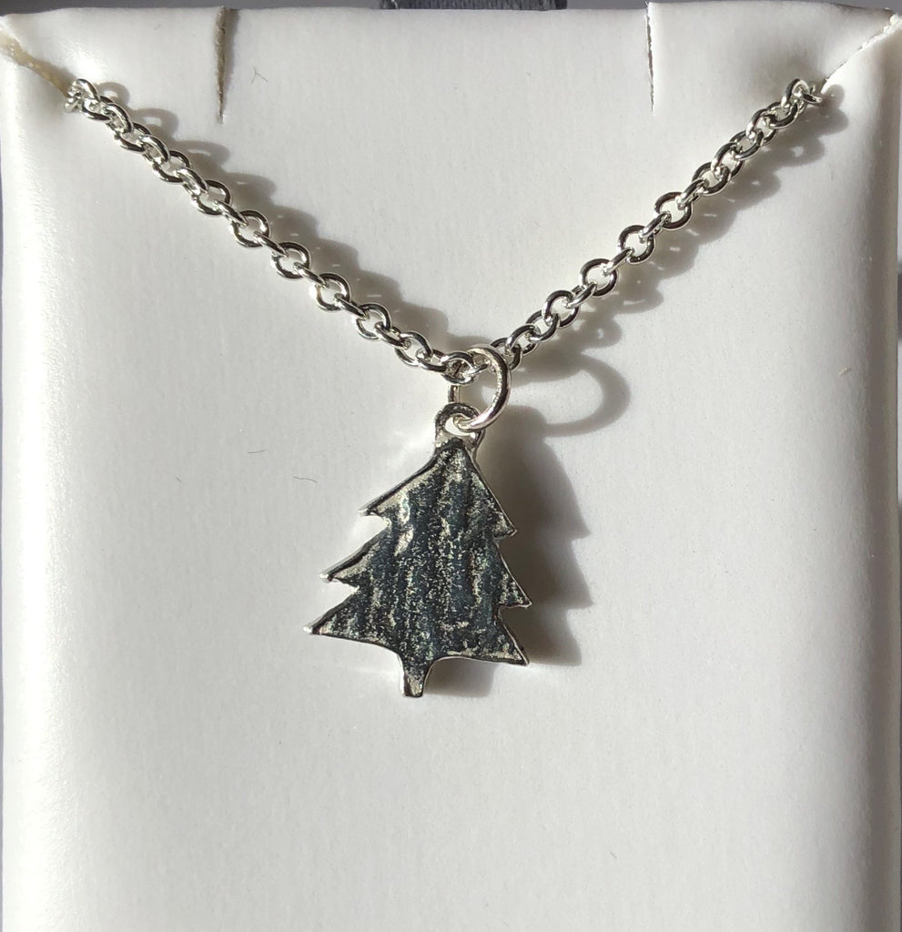 Pewter Christmas Tree Necklace