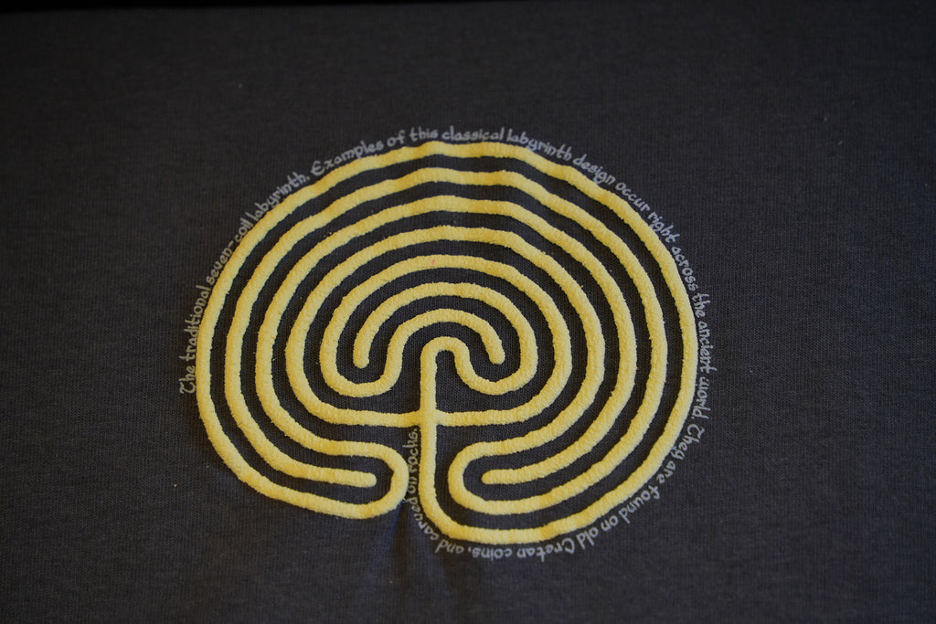 Unisex Labyrinth T-Shirt (Charcoal Grey)