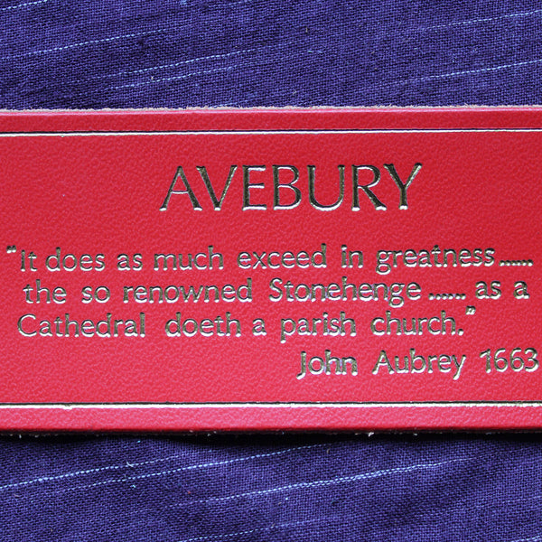 Avebury Bookmark Red (Soft Leather)