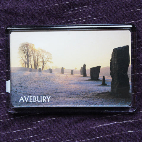 Avebury in Winter Fridge Magnet