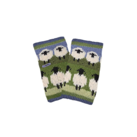 Flock of Sheep Wrist Warmers