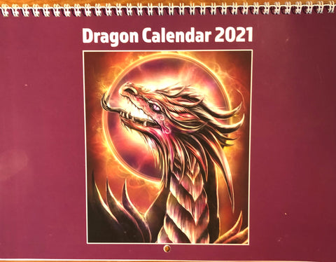 Dragon Calendar 2021 by Caroline Mitchell