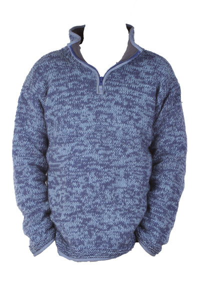 Donegal Men's Half Zip Jumper - Denim