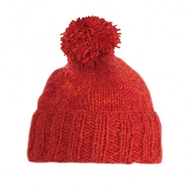 Donegal Bobble Hat (Red)