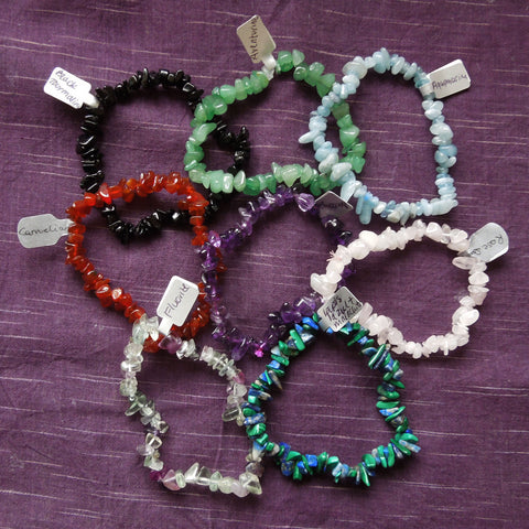 Gemstone bracelets (chips)