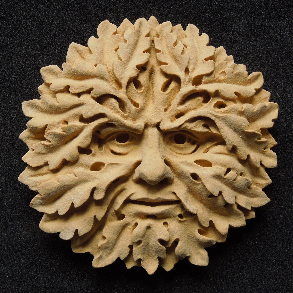 Recraft upcycled handcarved green man salvoweb uk