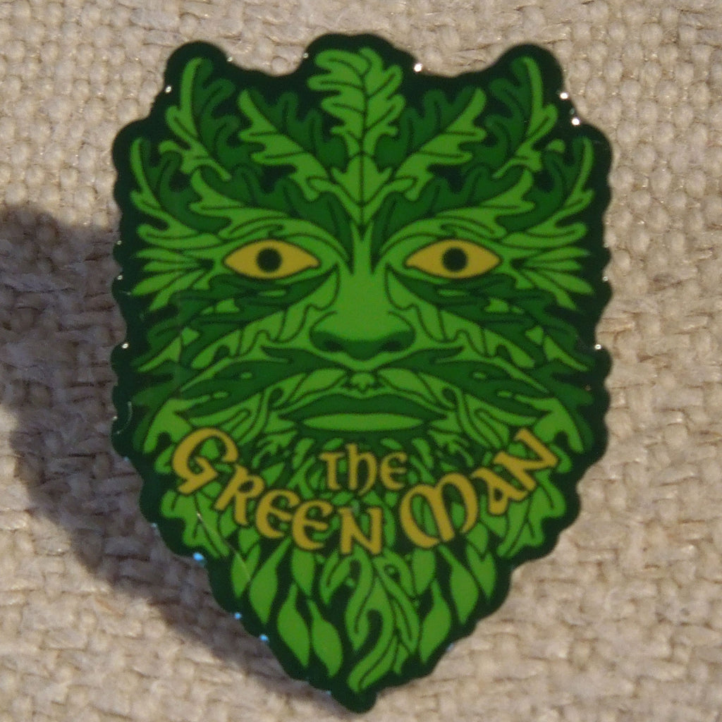 Green Man Pin Badge