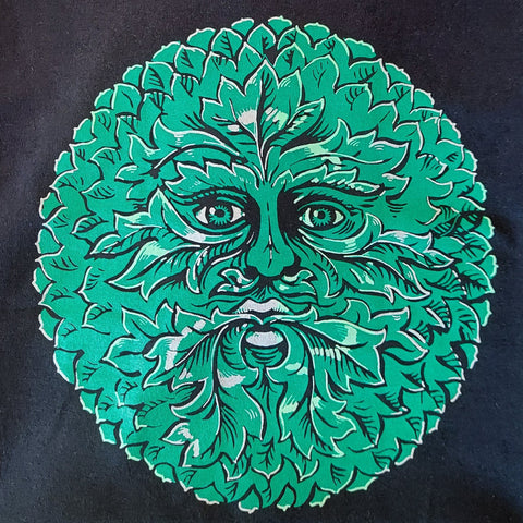 Unisex Green Man T-Shirt (Black)
