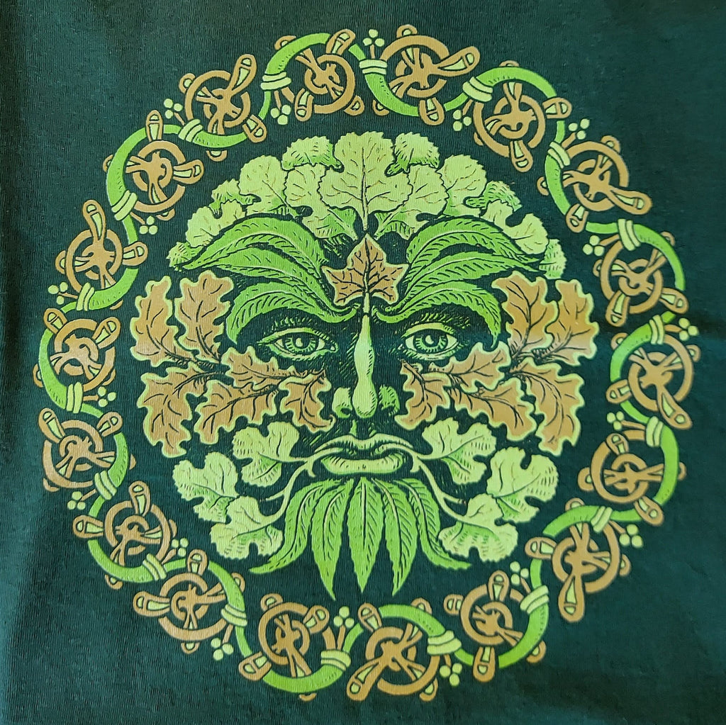 Unisex Green Man T-Shirt (Light Green)