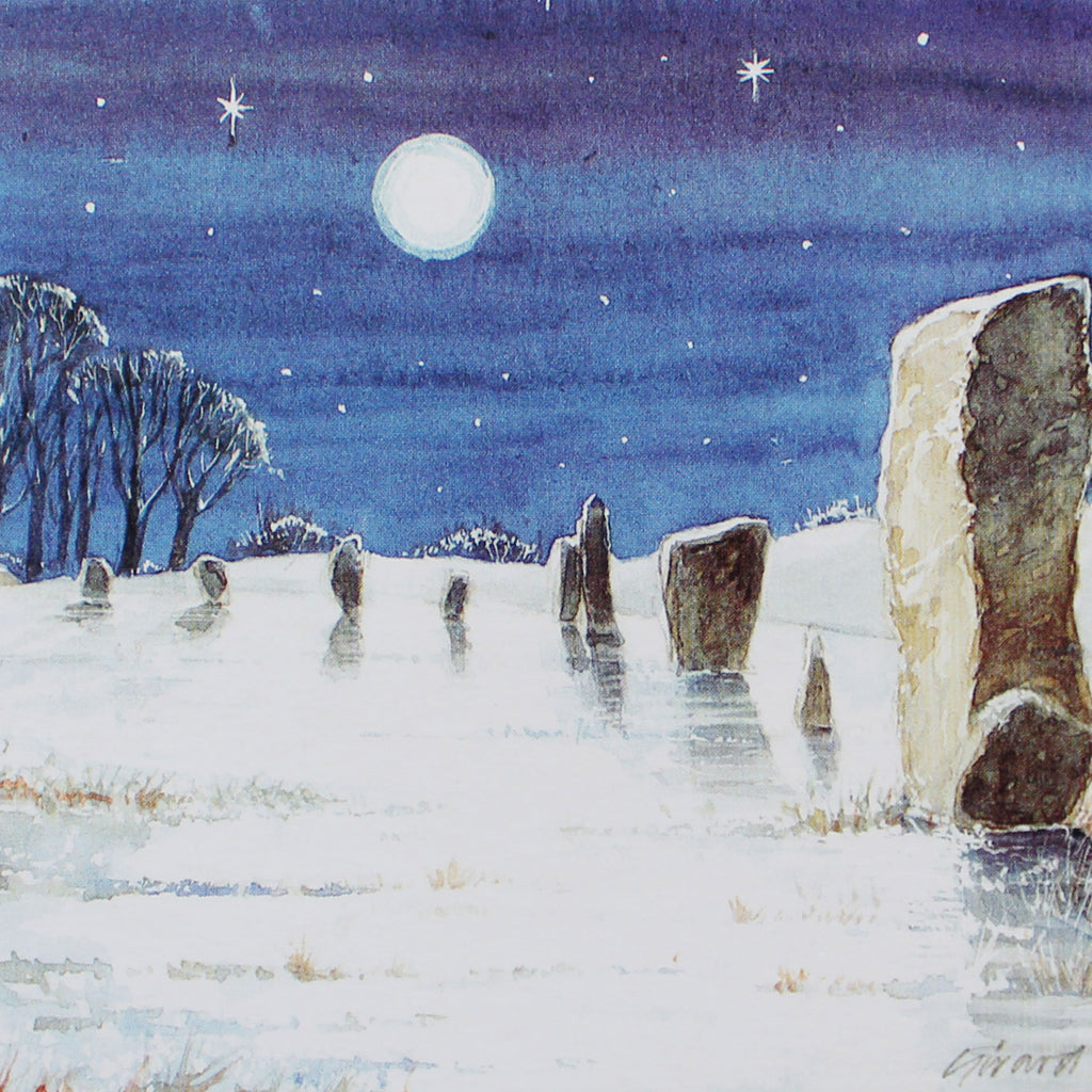 Midwinter in Avebury Cards