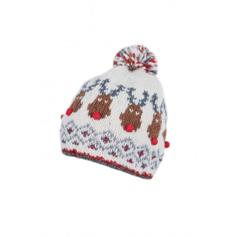 Rudolph Bobble Beanie by Pachamama