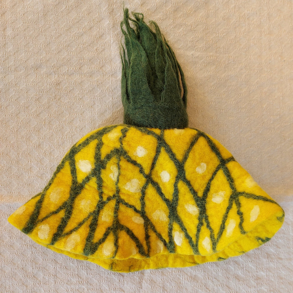 Pineapple Felt Hat