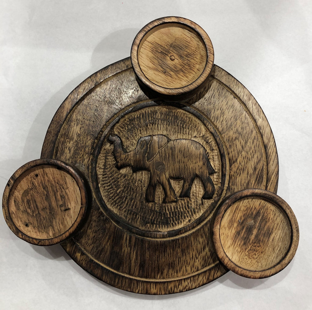 Elephant Triple T-Light Holder
