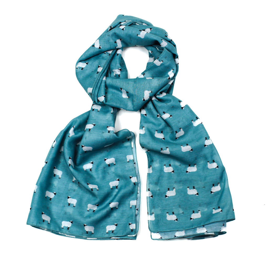 Sheep Scarf - Turquoise