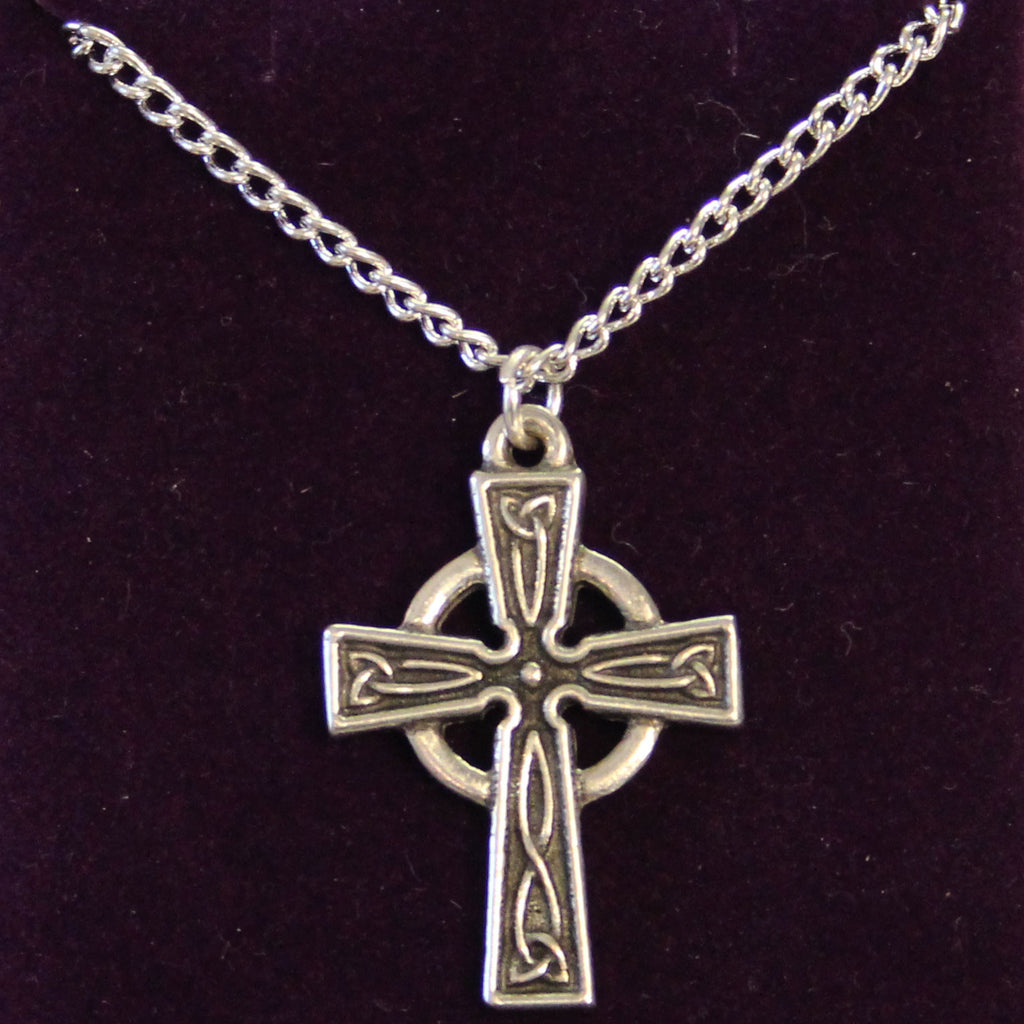 necklace gifts celtic with kt cross catholic filled chain sku gold