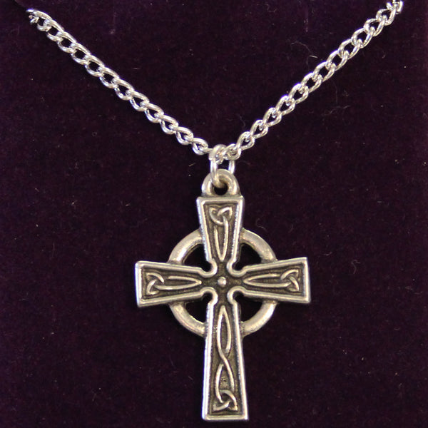 Pewter Celtic Cross Necklace