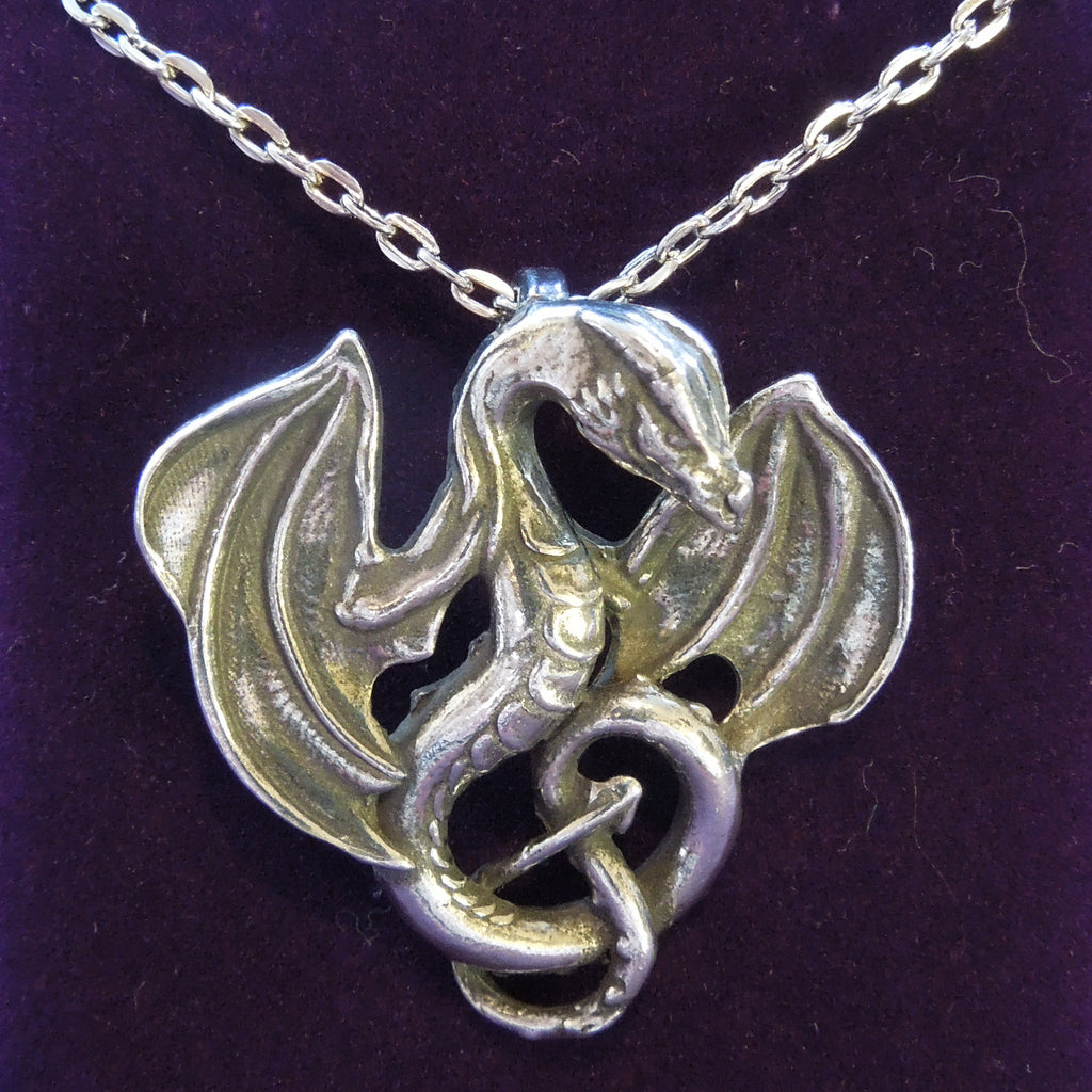 Pewter Dragon on Chain