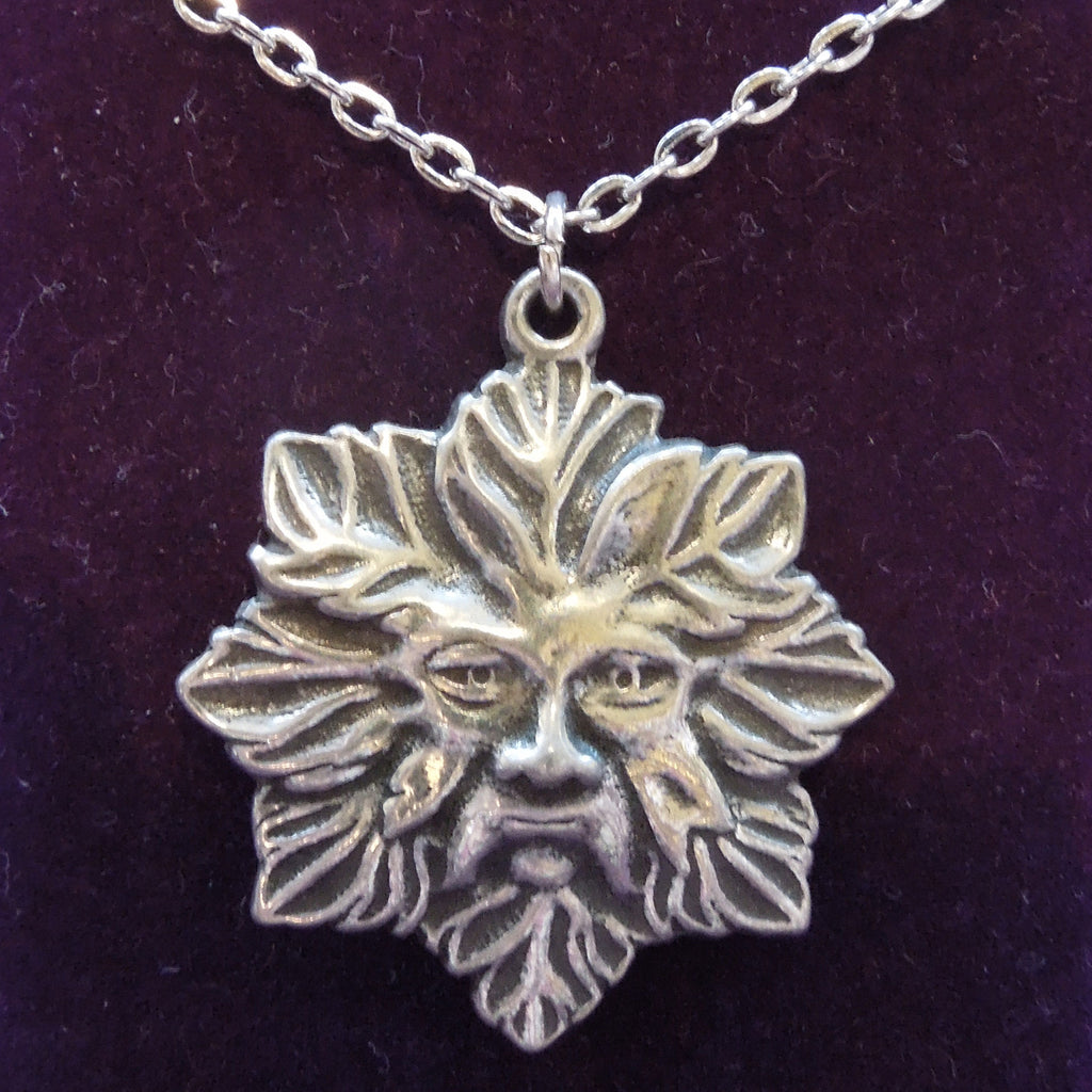 Pewter Green Man Necklace
