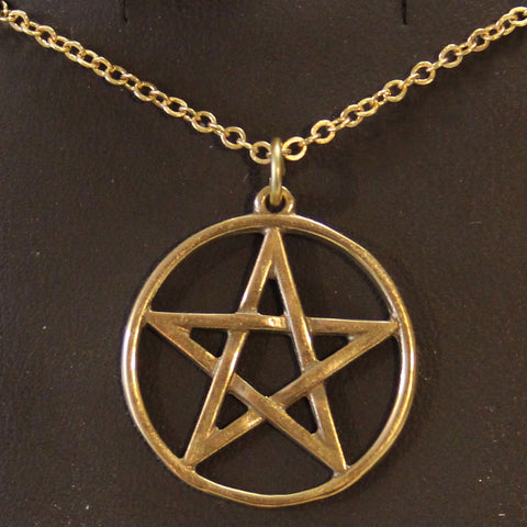 Bronze Pentacle Necklace