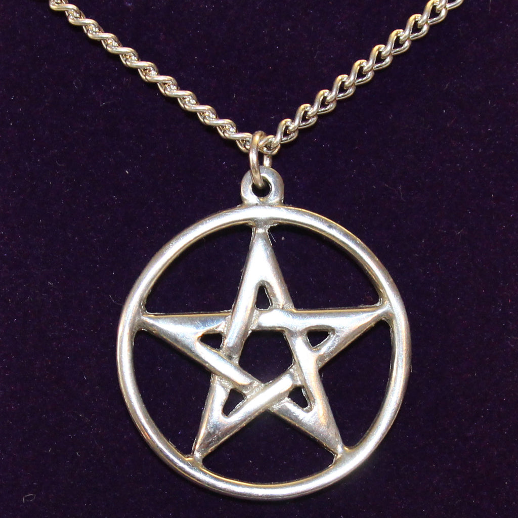 Pewter Pentacle Necklace (PN44)