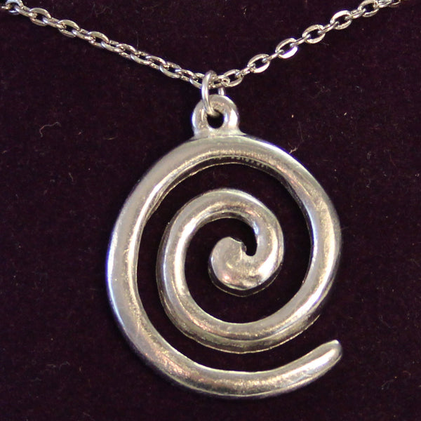 Pewter Spiral necklace
