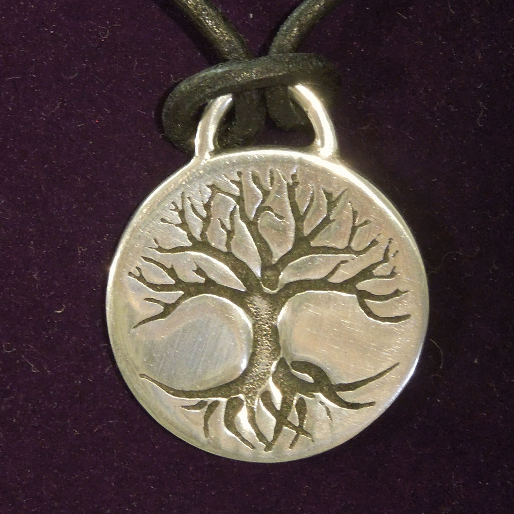 Pewter Tree of life Disk Pendant (PN841)