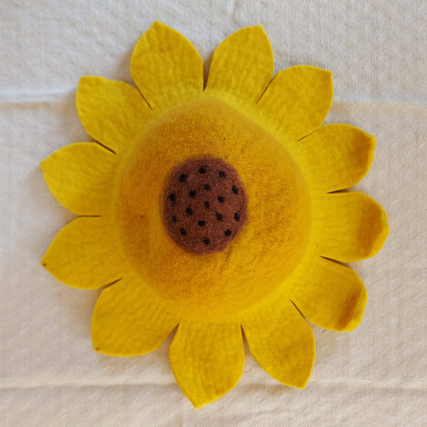 Sunflower Felt Hat