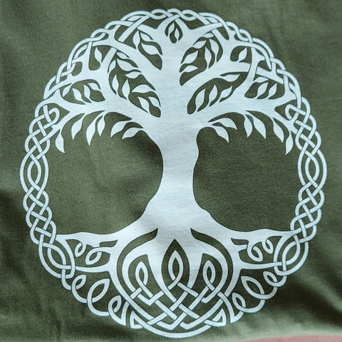Unisex Tree of Life T-Shirt (Moss Green)