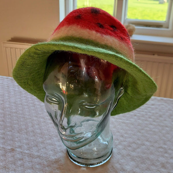 Watermelon Felt Hat