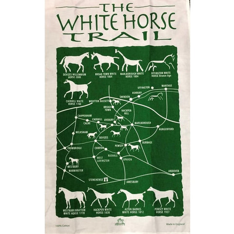 Trail of the White Horse Tea-Towel