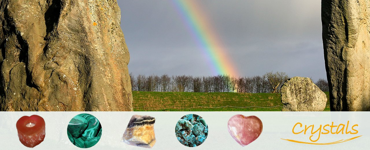 Henge Shop Crystals & rainbow landscape