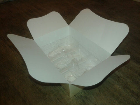 White Bath Melt Box with Tray