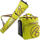 BRUBAKER Ski Bag Combo for Ski, Poles, Boots and Helmet - Limited Edition - Light Green / Sand