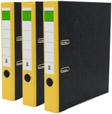 BRUBAKER 2-Ring 3-Inch Premium Black Marbled Binder - Pack of 3 - Multiple Colors - Made in Germany