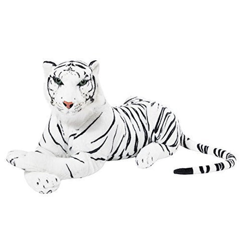 BRUBAKER White Plush Tiger - 28 Inches - Stuffed Animal
