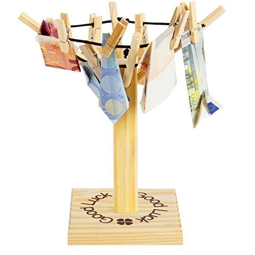 "BRUBAKER Clothesline for Money Gift or Photo Gift ""Good Luck"""