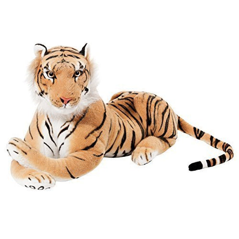 BRUBAKER Brown Plush Tiger - 28 Inches - Stuffed Animal