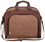 BRUBAKER Picnic Shoulder Bag for 4 Persons Brown 15×9×12 - w Cooler Compartment