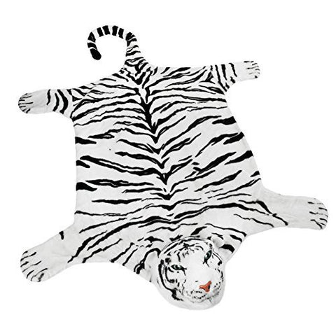 BRUBAKER Huge White Tiger Rug 78x47 Inch