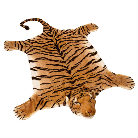 "BRUBAKER Realistic Brown Plush Tiger Rug 72"" x 42"""