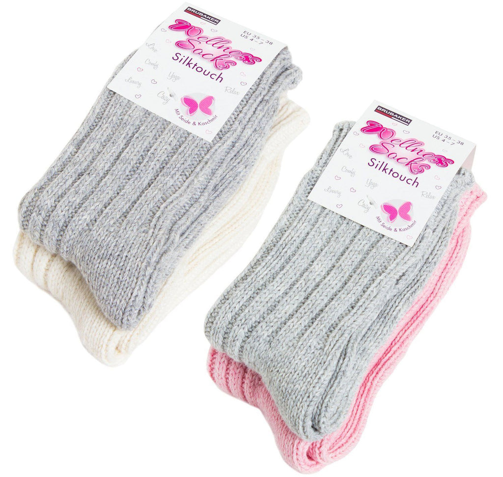 BRUBAKER 'Silk Touch' Women's Socks with Silk and Cashmere (Pack of 4)