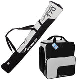 BRUBAKER Ski Bag Combo for Skis, Poles, Boots and Helmet 66 7/8 or 74 3/4 - Black Silver