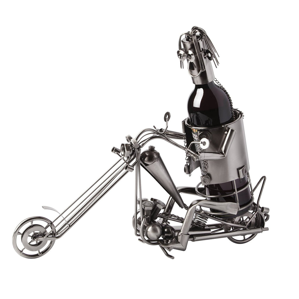 "BRUBAKER Wine Bottle Holder ""Motorcyclists""/""Biker"" 6012"